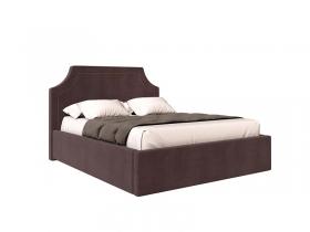 Кровать Катрин вариант 3 Коричневый велюр