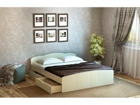 Кровать Ким дуб белфорд с 2-мя ящиками