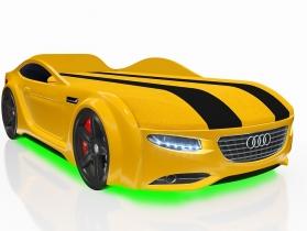 Кровать-машинка Junior А7 желтая