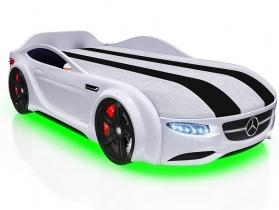 Кровать-машинка Junior AMG белая