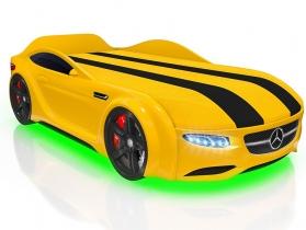 Кровать-машинка Junior AMG желтая
