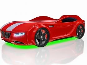 Кровать-машинка Junior X5 красная
