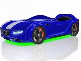 Кровать-машинка Junior X5 синяя