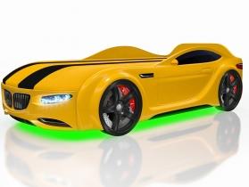 Кровать-машинка Junior X5 желтая