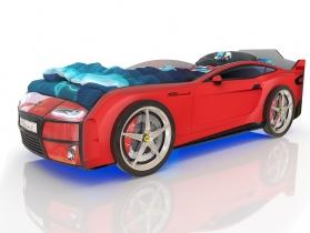 Кровать-машинка Kiddy красная