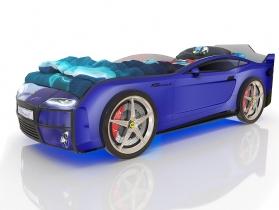 Кровать-машинка Kiddy синяя