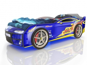 Кровать-машинка Kiddy синяя молния