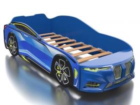 Кровать-машинка Romack Boxter голубая