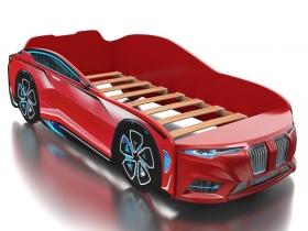 Кровать-машинка Romack Boxter красная