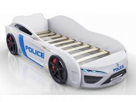 Кровать-машинка Romack Dreamer Полиция белый