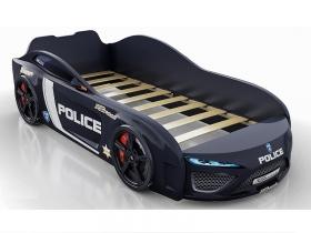 Кровать-машинка Romack Dreamer Полиция черный