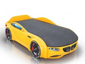 Кровать-машинка Romack Junior желтая