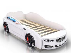 Кровать-машинка Romack Real белая