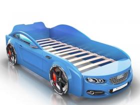 Кровать-машинка Romack Real голубая