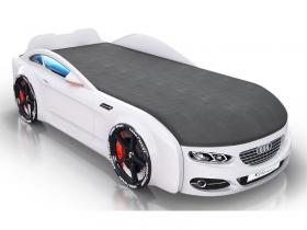 Кровать-машинка Romack Real-M белая
