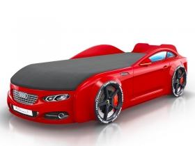 Кровать-машинка Romack Real-M красная