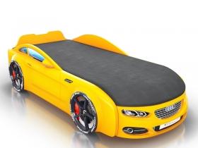 Кровать-машинка Romack Real-M желтая