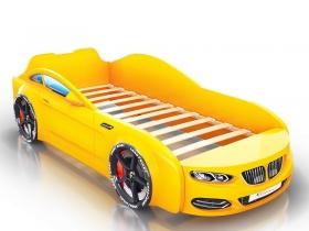 Кровать-машинка Romack Real желтая