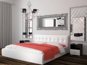 Кровать Оскар 73 с ортопедическим основанием Белый кожзам