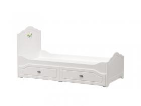 Кровать Роуз 11.27 Белый-Ясень ваниль