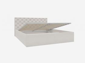 Кровать с ПМ 1600 с мягкой обивкой Скания ИП 005.06-01 велюр бежевый