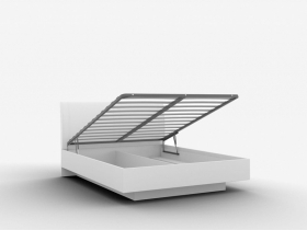 Кровать с подъемным механизмом 1600 Alberta КР-05.1 Белый Альпийский