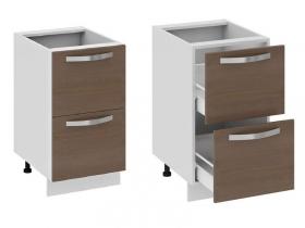 Кухня Бьюти Шкаф нижний с 2-мя ящиками Н2я-72-45-2Я 822х450х582мм