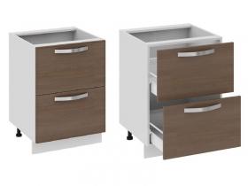 Кухня Бьюти Шкаф нижний с 2-мя ящиками Н2я-72-60-2Я 822х600х582мм
