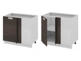 Кухня Бьюти Шкаф нижний с планками для формирования угла левый Н-72-90-1ДРпУ_Б 822х900х582мм
