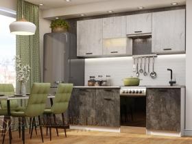 Кухня Лилия 1700 Цемент тёмный-Фенди