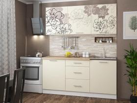 Кухонный гарнитур Бордо-ваниль 1600 белый-ваниль