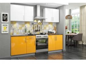 Кухонный гарнитур Хелена желтый глянец