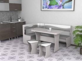 Кухонный уголок Титул 1 Серый