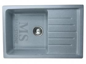 Мойка каменная МС-7 Светло-серый глянец