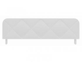 Ограничитель кровати с мягким чехлом Абрис кожзам белый ПМ-332.01.03-01