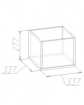 Полка Куб 1 337х337х277