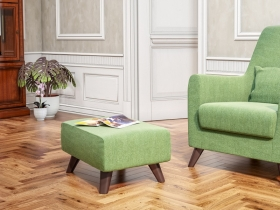 Пуф Эрика арт. ТП-231 лиственный зеленый
