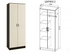 Шкаф 2-х створчатый Ронда ШКР800.2 Венге-Дуб белфорт