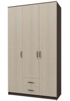Шкаф 3-х створчатый Ронда ШКР1200.1 Венге-Дуб белфорт