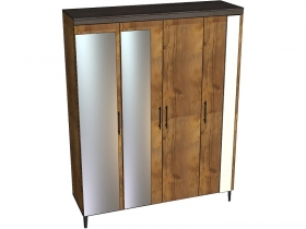 Шкаф 4-х дверный с зеркалами Таксония