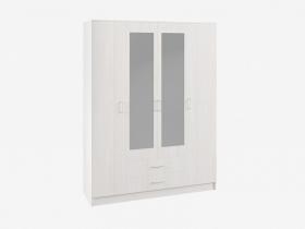 Шкаф 4-х створчатый с зеркалом Ронда ШКР 1600.1 Анкор