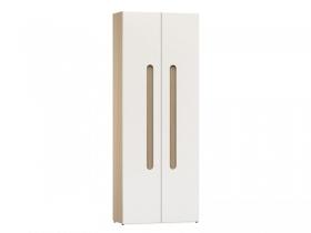 Шкаф для одежды Палермо Эко Ясень шимо светлый-Белый глянец