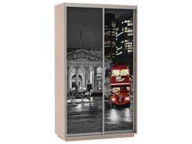 Шкаф-купе 2-х дверный Фото Хит Ночной Лондон