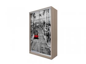 Шкаф-купе 2-х дверный Хит-77 фотопечать Трамвай