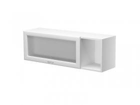 Шкаф навесной с дверкой со стеклом левый на 1100 Герда ШН-110-ГЛ 1100х300х360