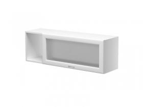 Шкаф навесной с дверкой со стеклом правый на 1100 Герда ШН-110-ГЛ 1100х300х360