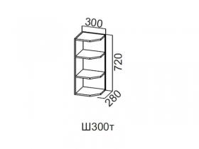 Шкаф навесной торцевой 300 Ш300т 720х300х296мм Модерн