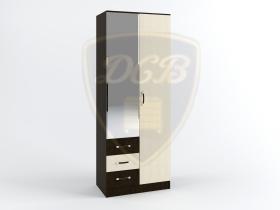 Шкаф с зеркалом Ронда ШКР800-3 венге-дуб