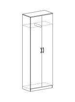 Шкаф со скалкой Макарена ЛДСП ШК 302 Венге/Белфорт