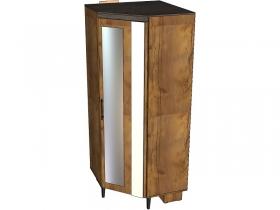 Шкаф угловой 1 дверный с зеркалом Таксония